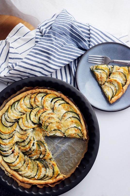 recette de tarte aux courgettes vegetarienne