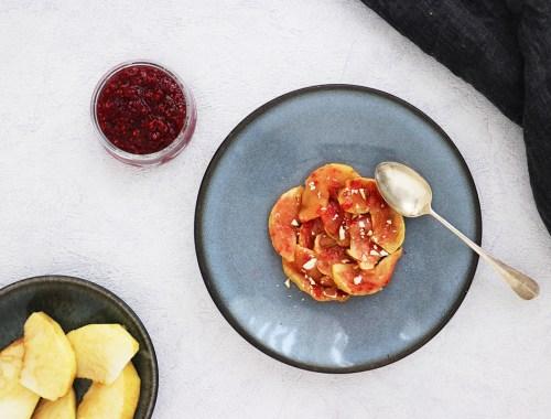 pomme au four vegan framboise