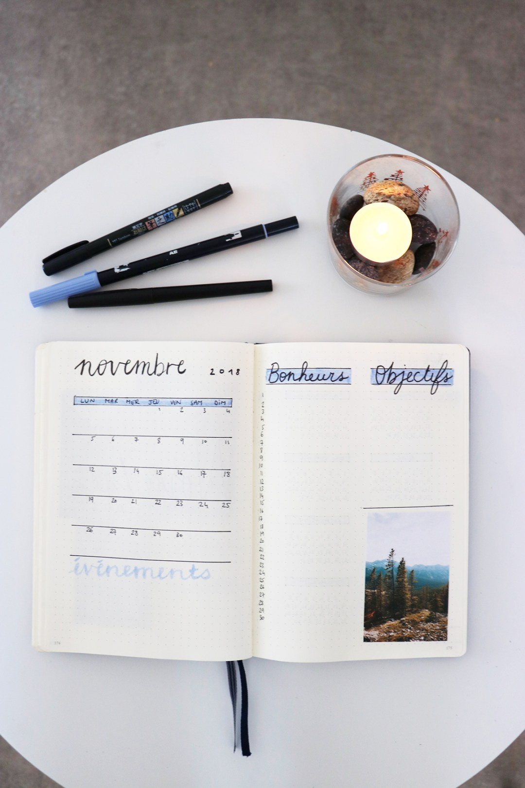 monthly log bullet journal novembre 2018