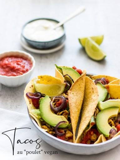 recette tacos poulet vegan mexicain pinterest