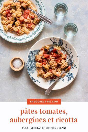pates-tomates-aubergine-ricotta-pinterest