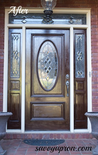 Gel Stained Front Door