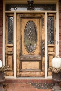 Gel Stained Front Door | Savvy Apron