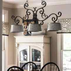 Farmhouse Kitchen Lighting Fixtures Modular Outdoor Updated Light Fixture Savvy Apron I Used Galvanized Buckets For My It Is An Easy