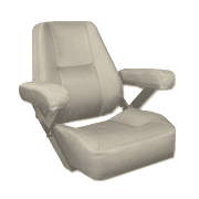 boat captains chair folding yard replacement seats chairs helm and