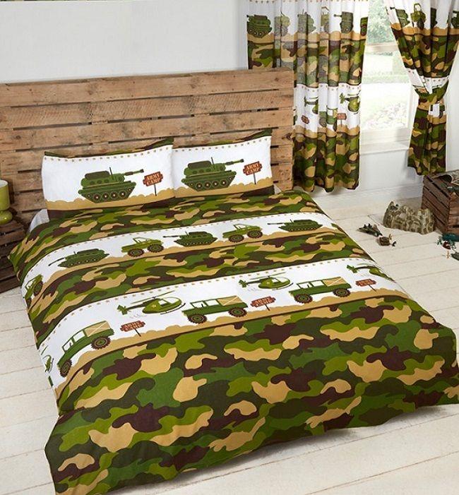 Army Camouflage Queen Kids Licensed Quilt Duvet Bedding