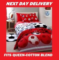 Soccer Football Queen Kids Licensed Quilt Duvet Bedding