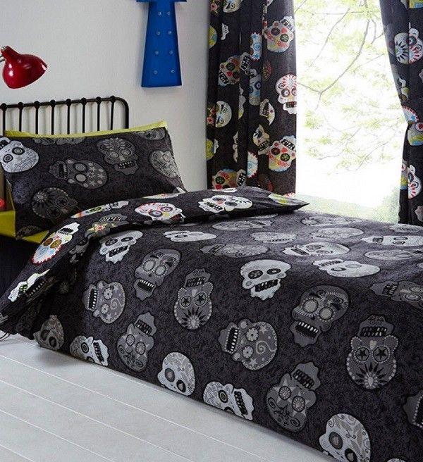 Sugar Skull Quilt Cover Set  Cotton Blend  Savvy Deals Group