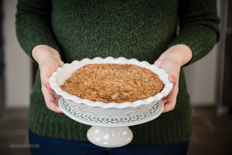 Thanksgiving apple crumble