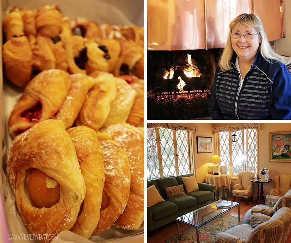 morning breakfast at Hofsas House in Carmel