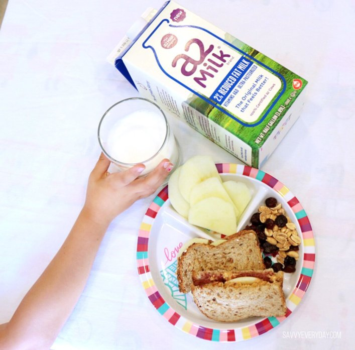 a2 milk afternoon snack