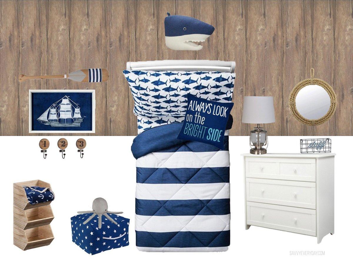 Nautical Inspired Kids Room Design