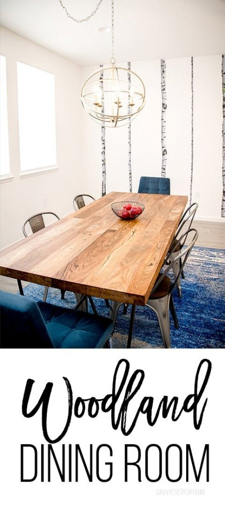 Gorgeous woodland dining room for families