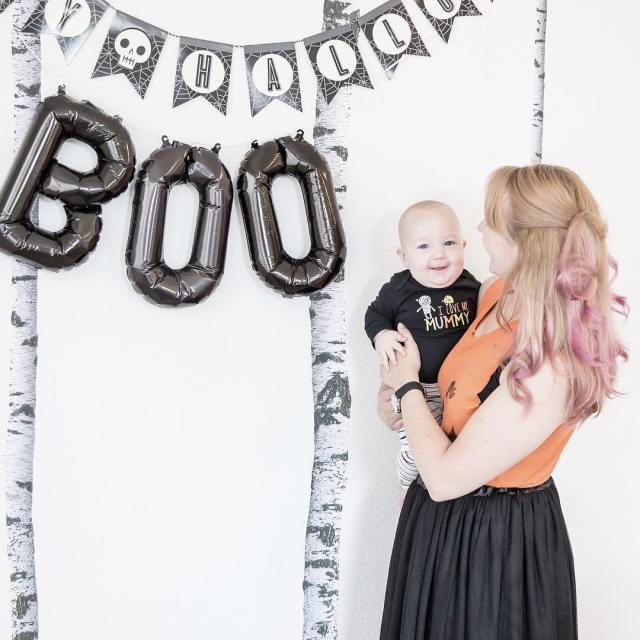 Boo!   joylifestylephotography  halloweendecorations meandmineproject boymomlife boymom halloweendecorhellip