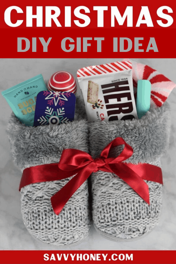 pics Slippers Gift Message 4 cute diy christmas slippers gift