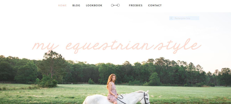 My Equestrian Style Blog