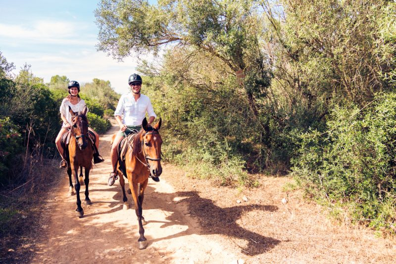What muscles does horseback riding use?