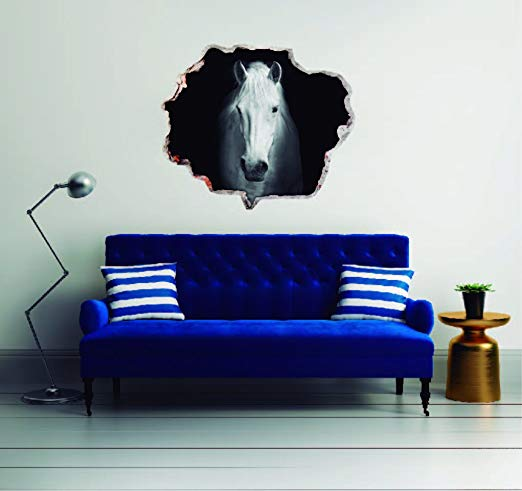 Horse 3D Effect - Brake Wall Effect 3D - Wall Decal