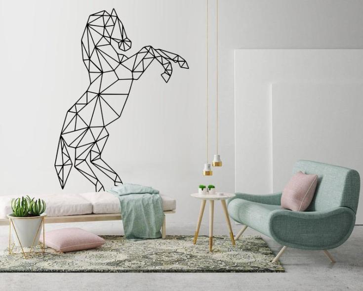 Geometric Horse Wall Art