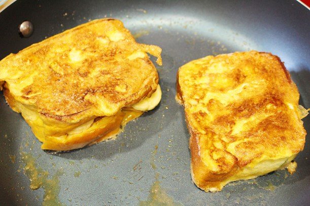 Peanut Butter Banana And Bacon Stuffed French Toast Elvis Style Savvy In The Kitchen