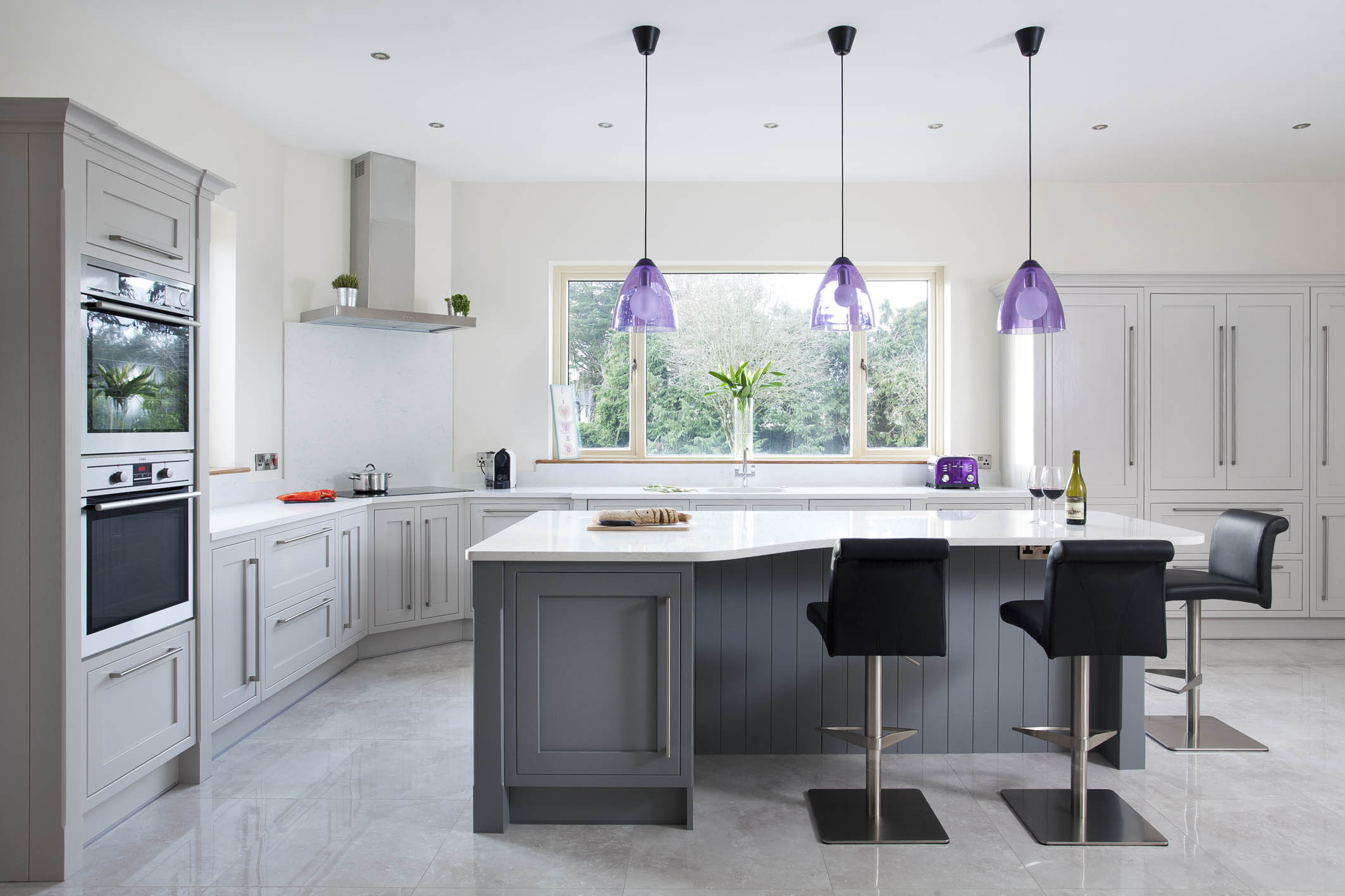 electrolux kitchen appliances island light fixtures classic contemporary handmade kitchen, tipperary, painted ...