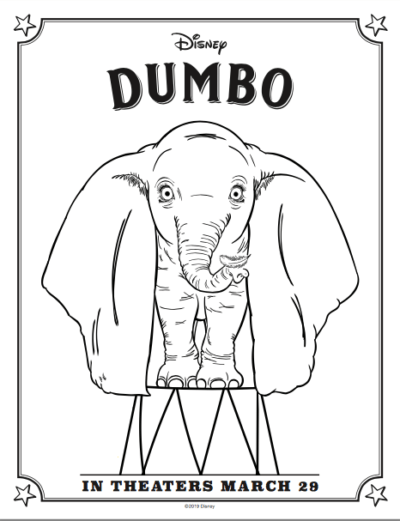FREE Dumbo Coloring Pages & Activity Sheets + Sneak Peek