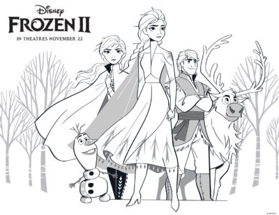 Frozen 2 Coloring Pages & Activity Sheets: FREE + Printable
