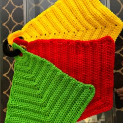 Kitchen Hot Pads Open Designs In Small Apartments Crocheted Free Crochet Pattern Savvy Nana