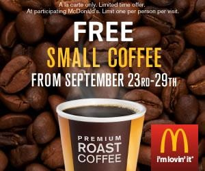 Free McDonald's Premium Coffee