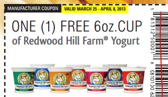 Free Redwood Hill Farm Yogurt