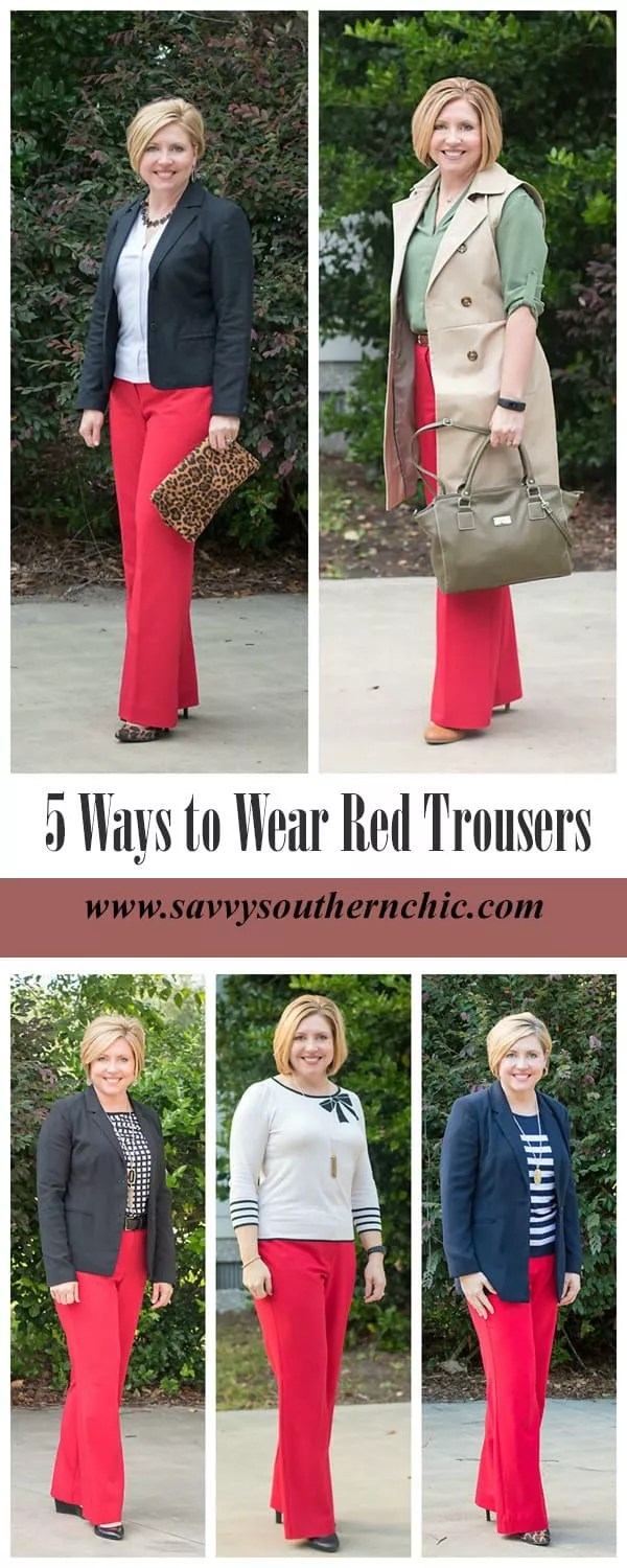 5 ways to wear red trousers