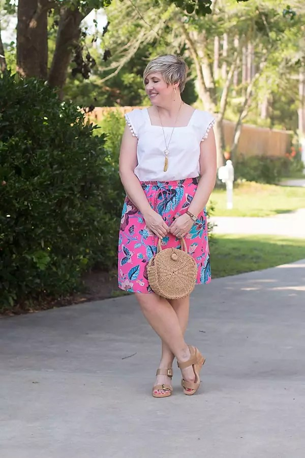 straw bag summer outfit,