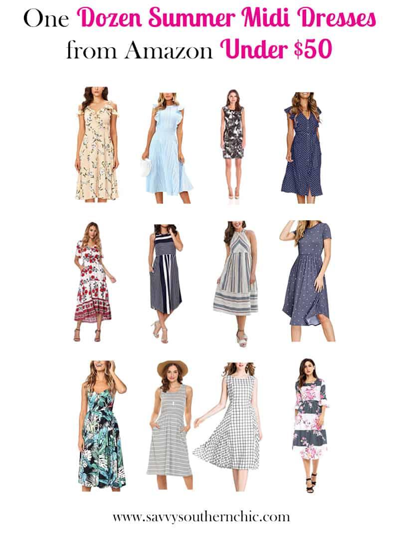 one dozen summer dresses from Amazon