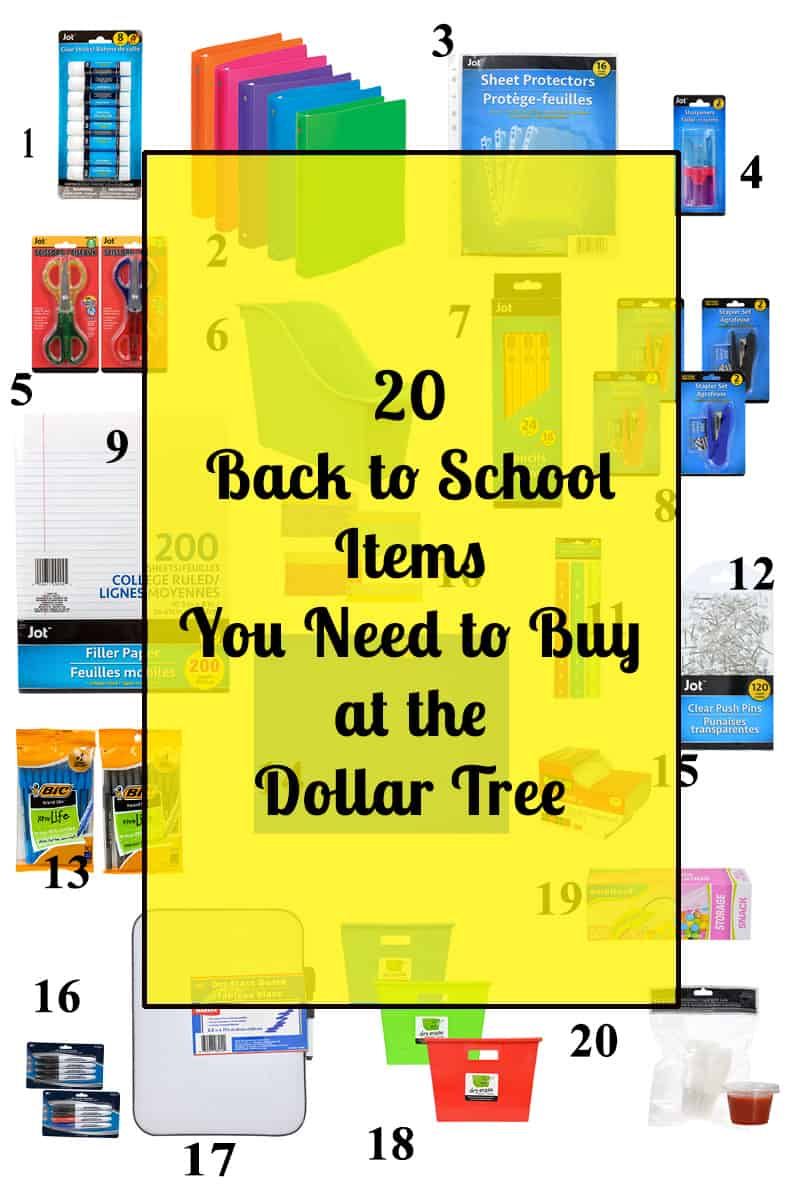 20 back to school items
