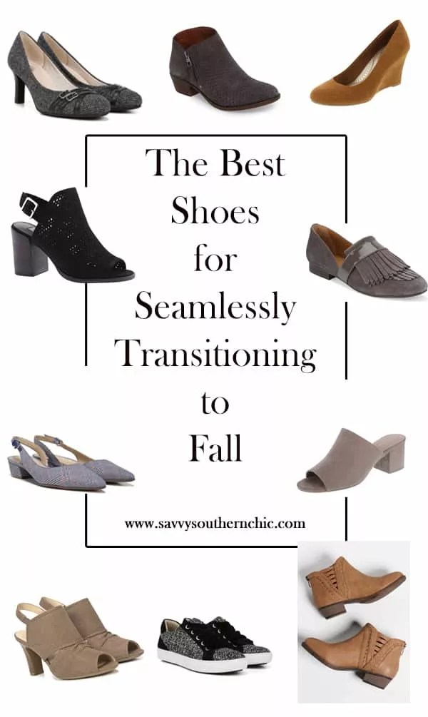 shoes for transitioning to fall, fall footwear, booties, loafers