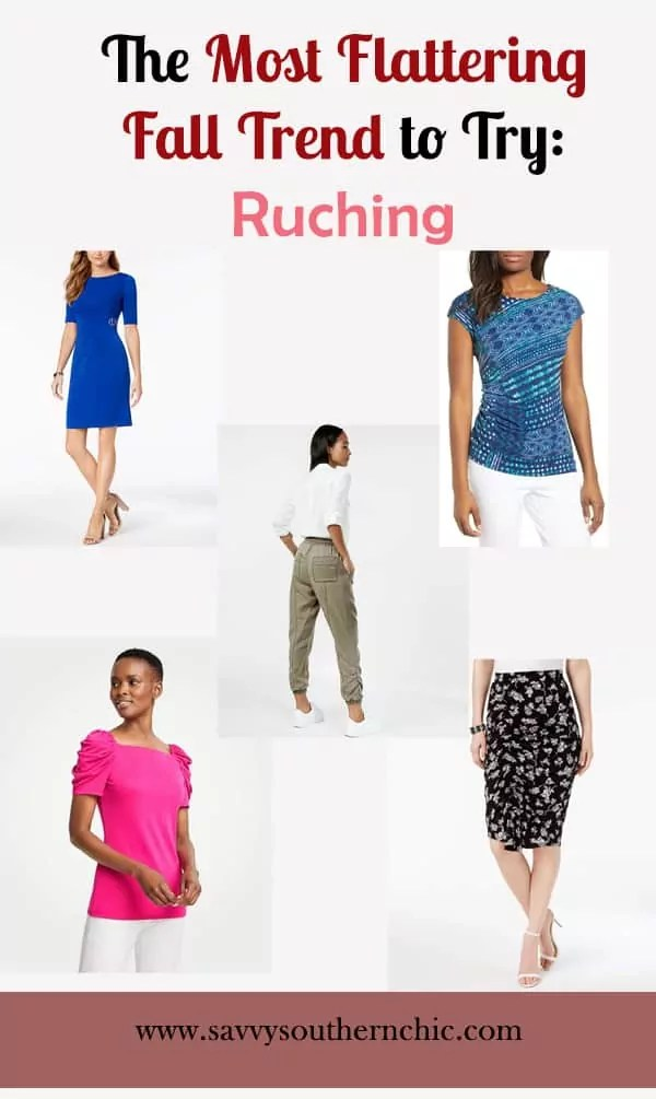flattering fall trend ruching