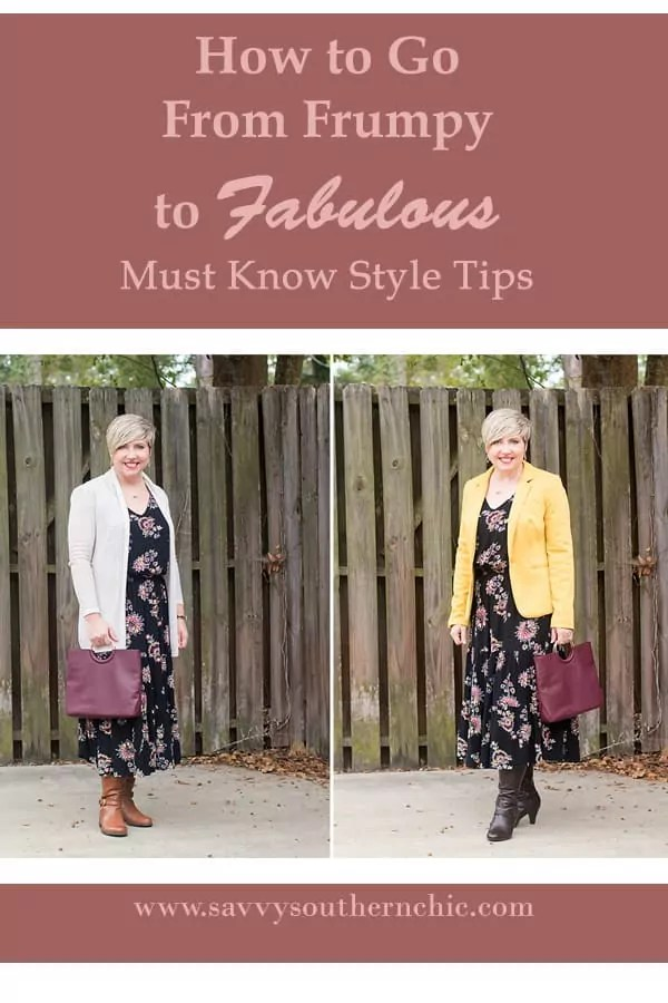 midi dress, frumpy to fabulous