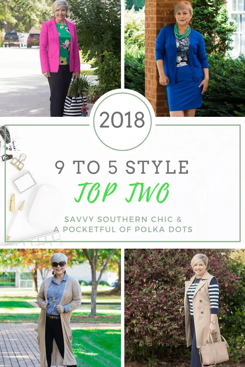 9 to 5 Style Top Two Favorites of 2018 with Savvy Southern Chic and A Pocketful of Polka Dots