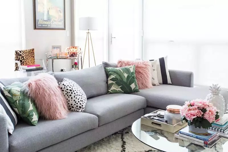 living room inspiration, home decor, grey sectional