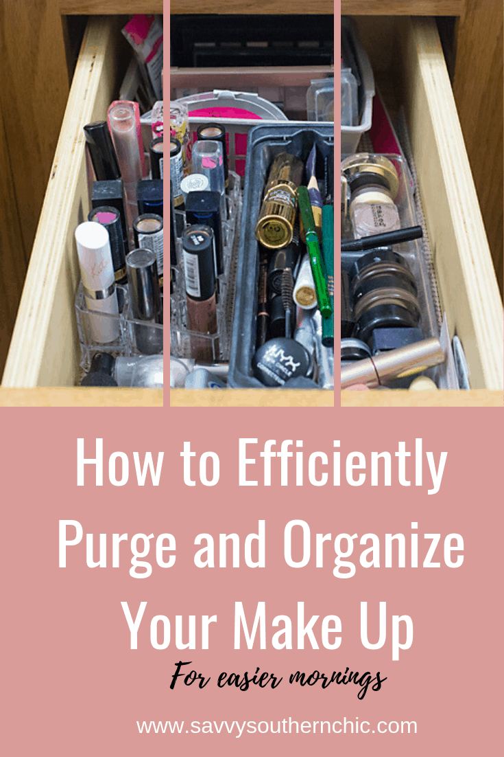 how to efficiently purge and organize your make up