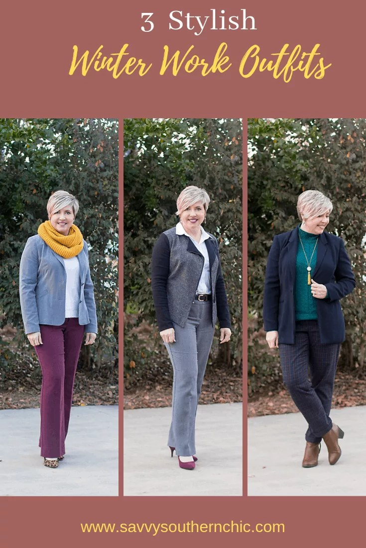 3 stylish winter work outfits for women