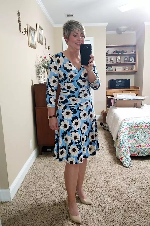 affordable spring/Easter dresses with flattering ruching