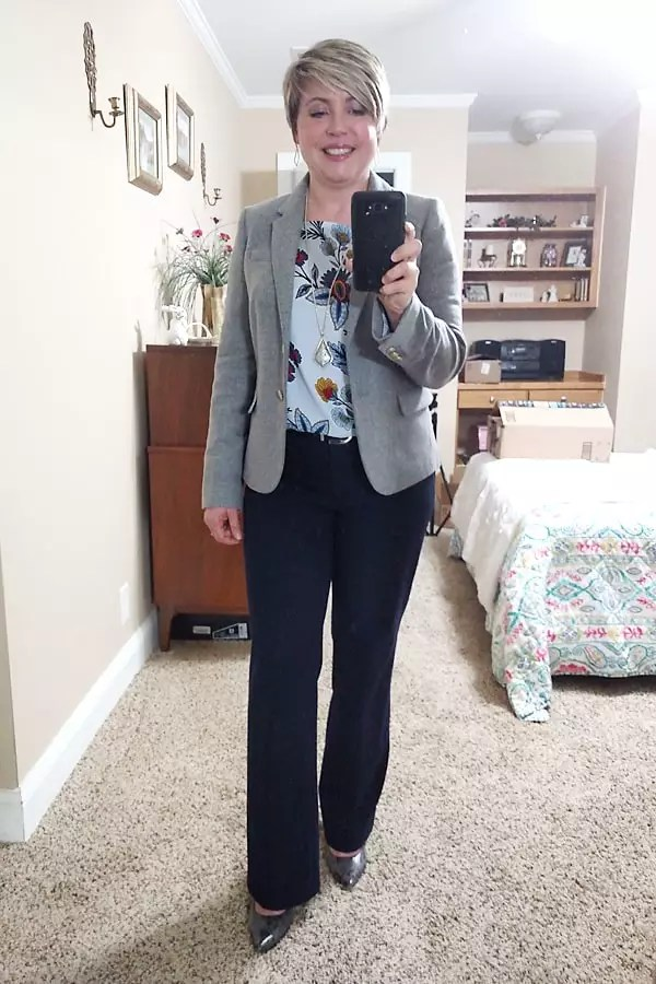 favorite Jcrew Factory blazer in grey