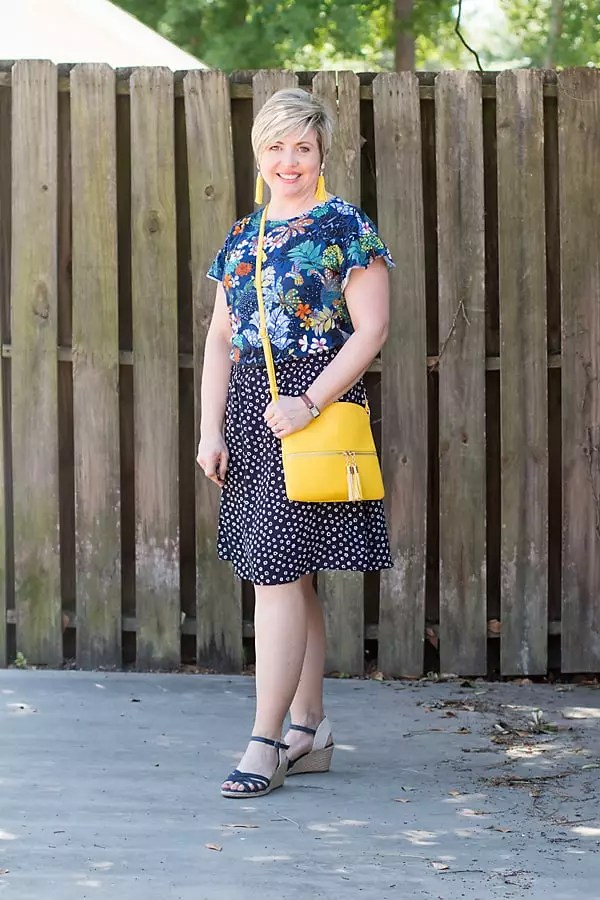 pattern mixing florals