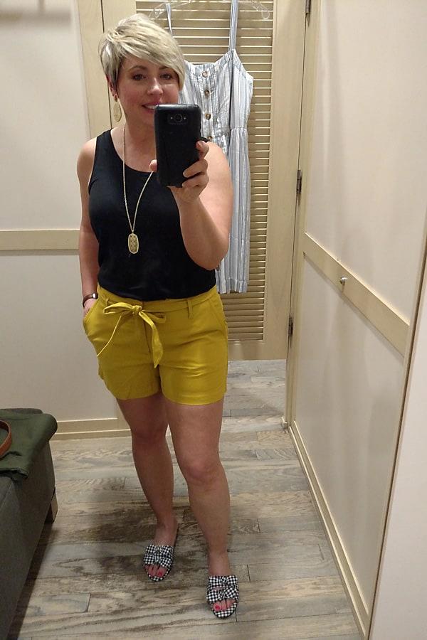 Loft tie waist shorts