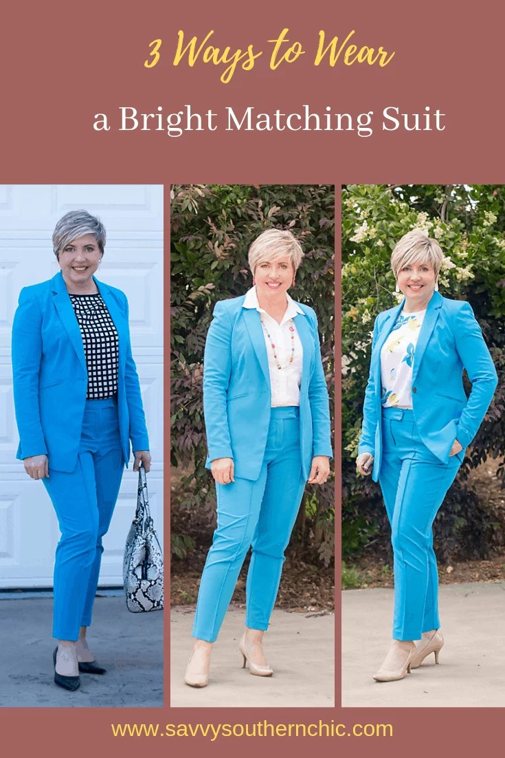 3 ways to wear a bright matching suit