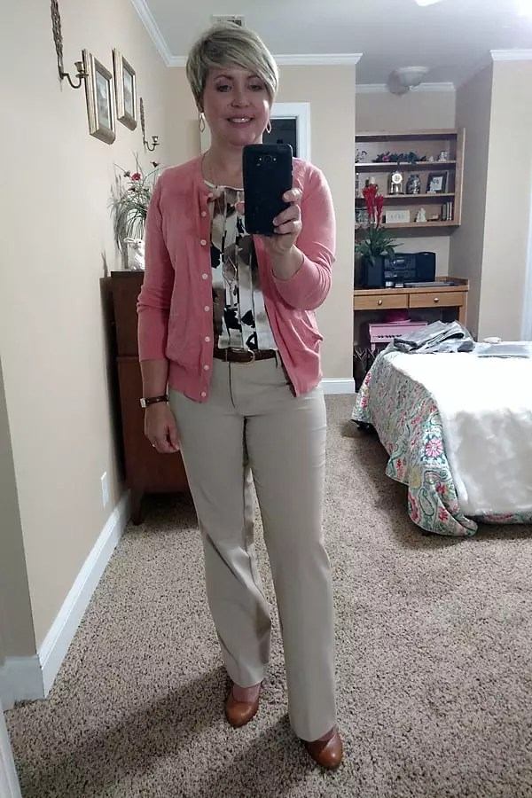 what I wore to work cardigan outfit