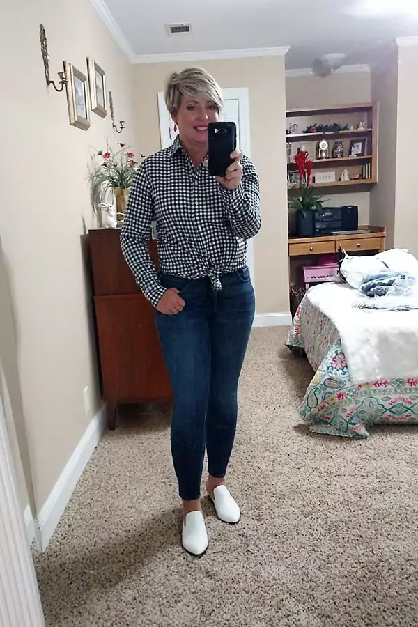 gingham shirt for wearing this fall