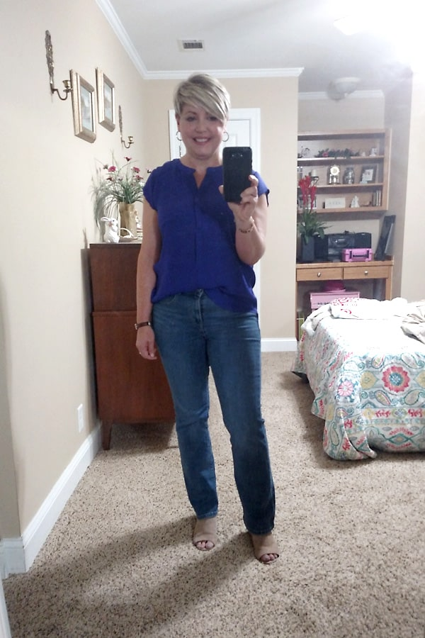 early fall outfit, boot cut jeans