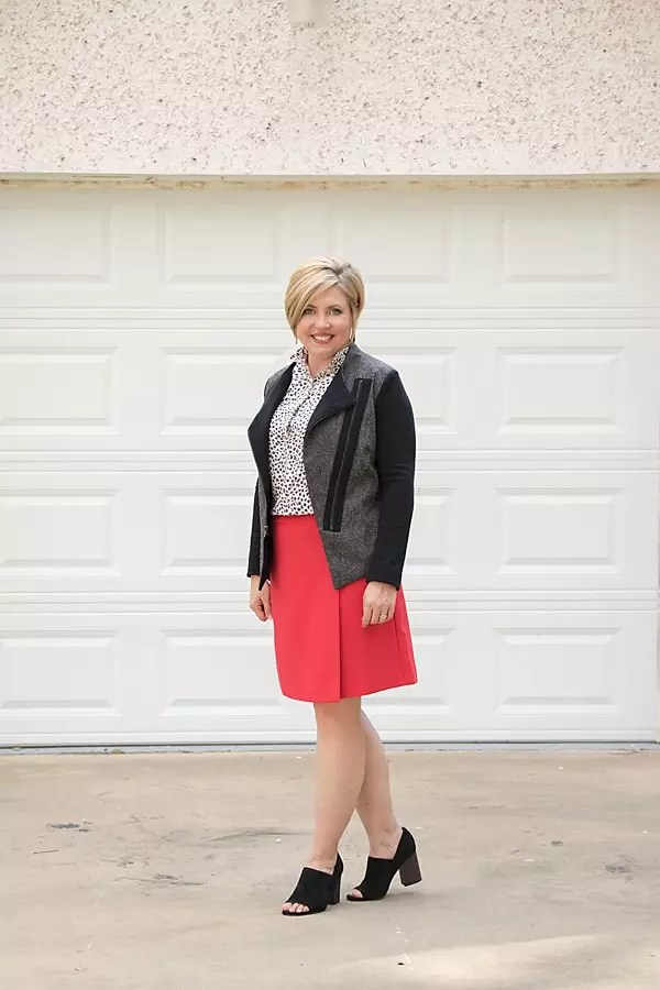 A line skirt fall look